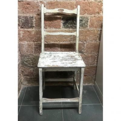Cadira D'estil Rustic Color Blanc Decapat