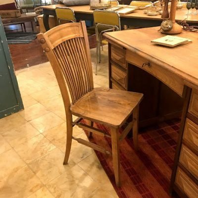 AMERICAN OAK OFFICE CHAIR 20s